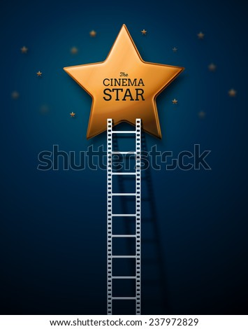 Way to the stars of cinema, eps 10 - stock vector