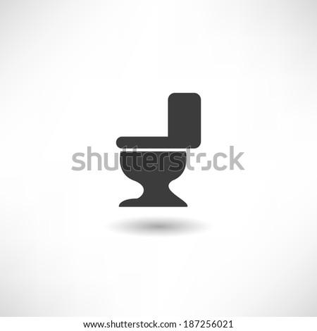 WC icon - stock vector