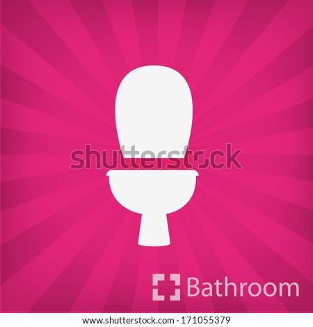 Wc icon ( bathroom ) - stock vector