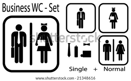 WC icon for business people + normal icon