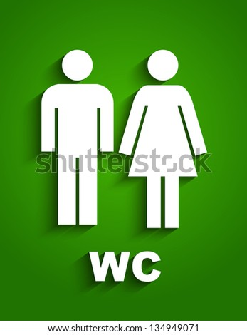 Wc sign - stock vector