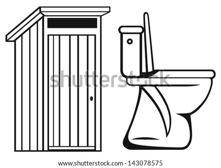 WC. Toilet isolated on white background