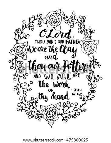 The potter and the clay coloring pages ~ Bible Verse Calligraphy Pen Art Sketch Coloring Page