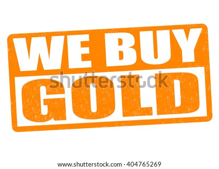 We buy gold grunge rubber stamp on white background, vector illustration