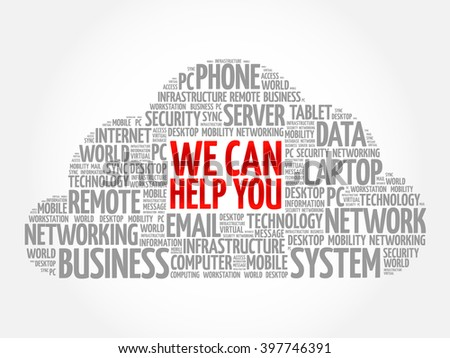 We can help you word cloud concept - stock vector