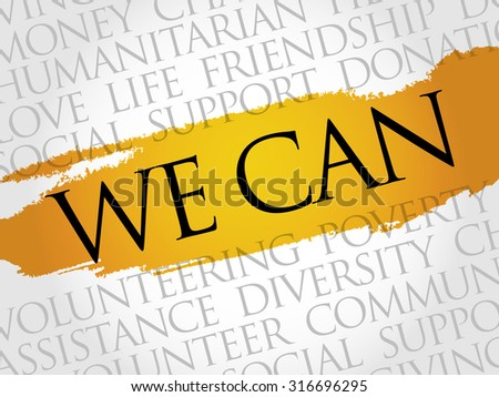 We Can, word cloud concept - stock vector