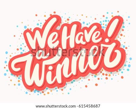 we have winner vector banner stock vector royalty free 615458687