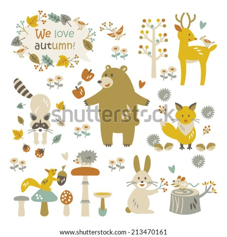 We love autumn - stock vector