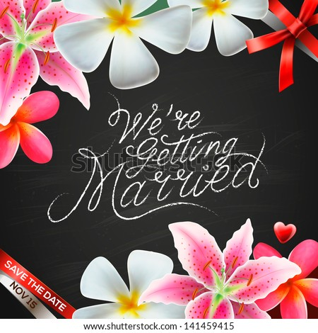 We're getting married, vector illustration. - stock vector