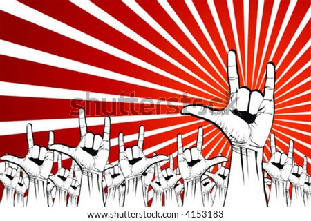 we want peace - stock vector