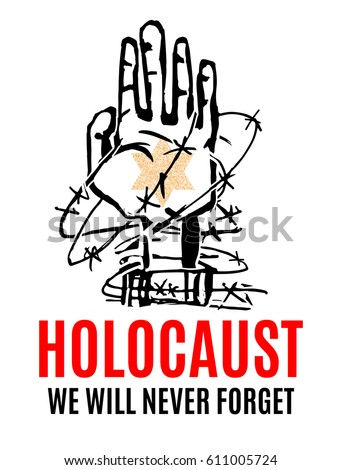 we will never forget holocaust remembrance stock vector hd royalty rh shutterstock com D-Day Clip Art Prison Clip Art