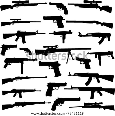 weapon collection - vector - stock vector
