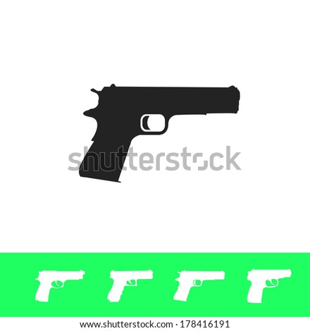 Weapon icon set - stock vector