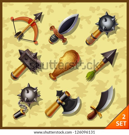 weapon icons-set 2 - stock vector