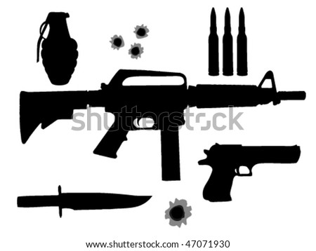 weapon set - stock vector