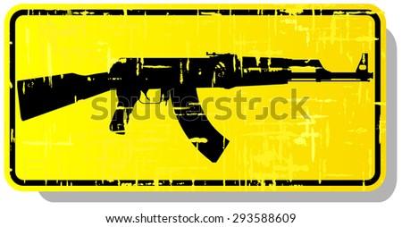 weapon warning sign. vector illustration - stock vector