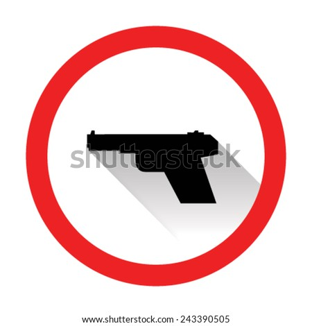 Weapons gun icons - stock vector