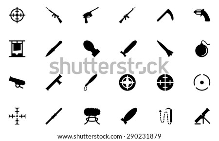 Weapons Vector Icons 2 - stock vector