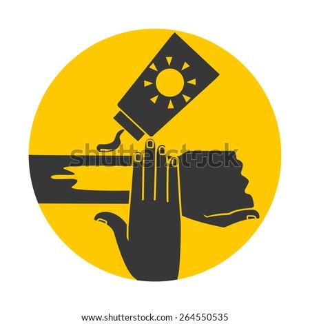 Wear sunscreen sign, vector illustration - stock vector