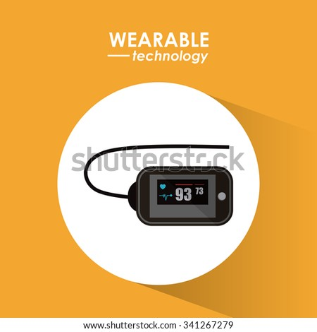 Wearable technology concept and multimedia icons design, vector illustration 10 eps graphic.