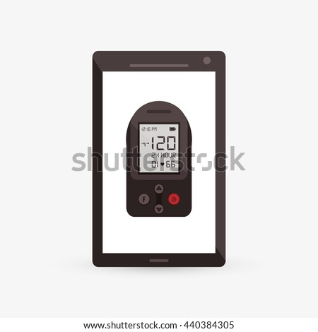 Wearable technology design. Gadget icon. Flat illustration, vector