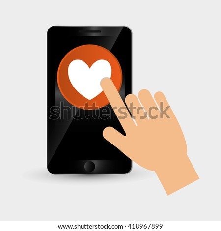 wearable technology design. social media icon. smartphone concept, vector illustration