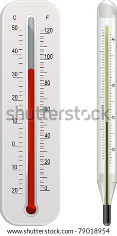 weather and clinical thermometers