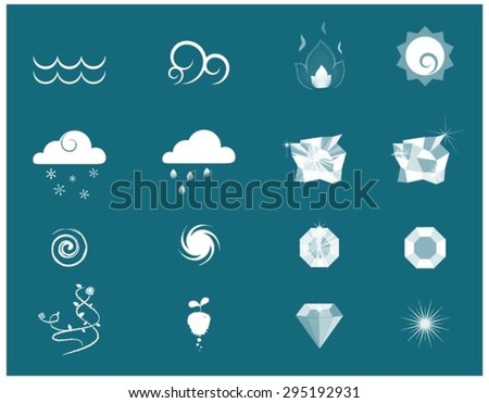 Weather and Element - stock vector