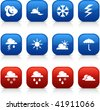 Weather  button set. Vector illustration. - stock vector