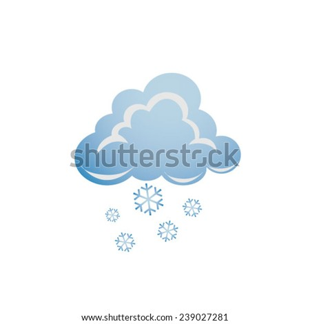 Weather - cloud with snow - stock vector