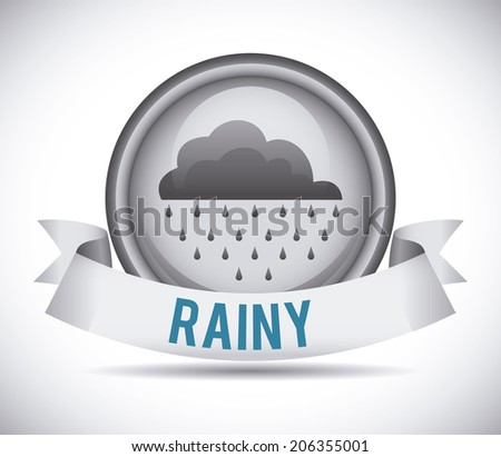 Weather design over gray background, vector illustration - stock vector