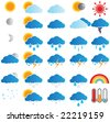 Weather forecast - stock vector