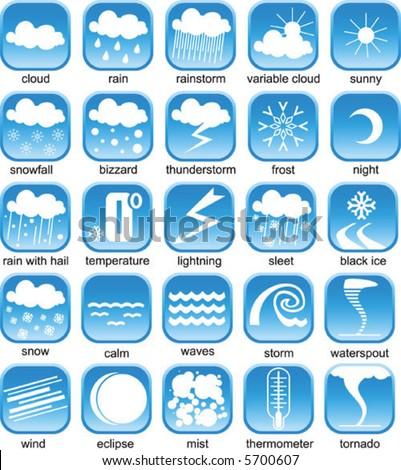 weather icon - stock vector