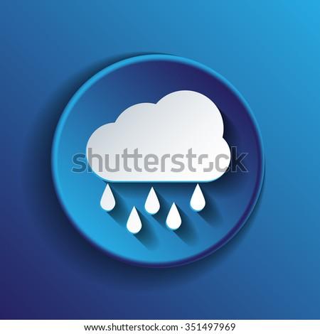weather icon. cloud rain. - stock vector