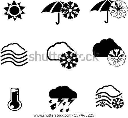 weather icon collection created in vector format - stock vector