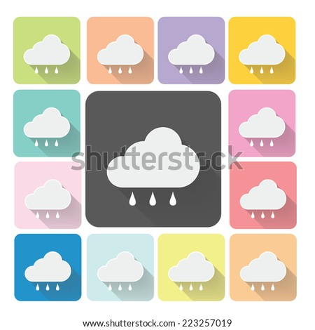 Weather Icon color set vector illustration.