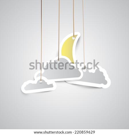 Weather icon made by paper - stock vector