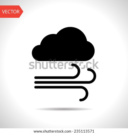 Weather icon of wind. eps10 - stock vector