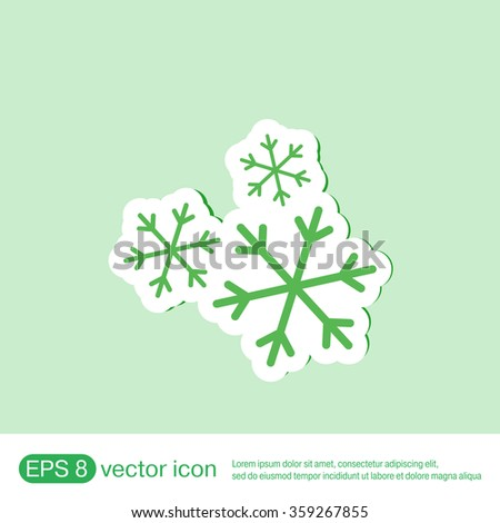 weather icon, snowflake sign - stock vector