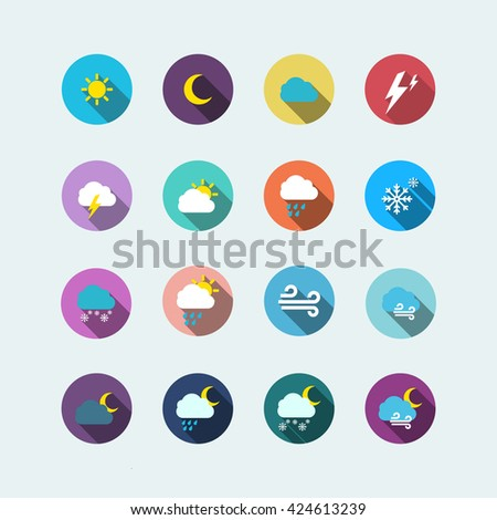 weather icon. weather flat. weather vector - stock vector