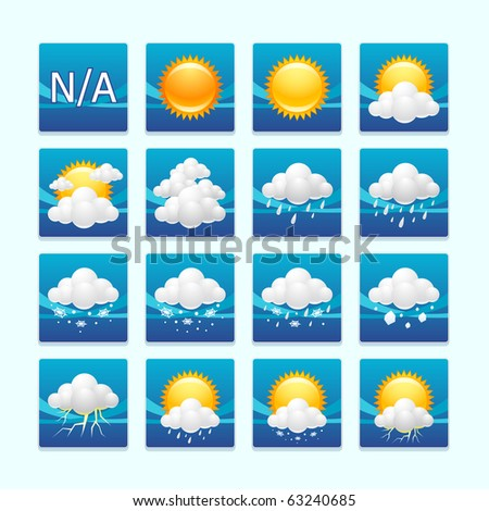 weather icons : day set - stock vector