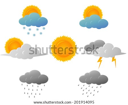 Weather icons design - stock vector