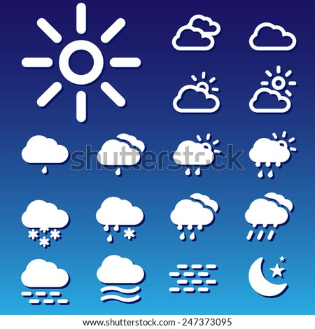 Weather icons set great for any use. Vector EPS10.