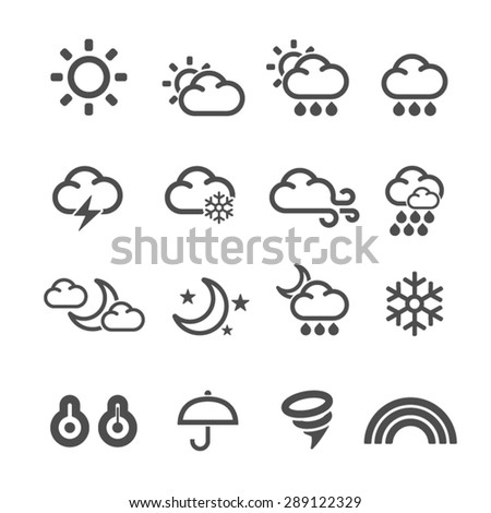 Weather Icons set,Vector