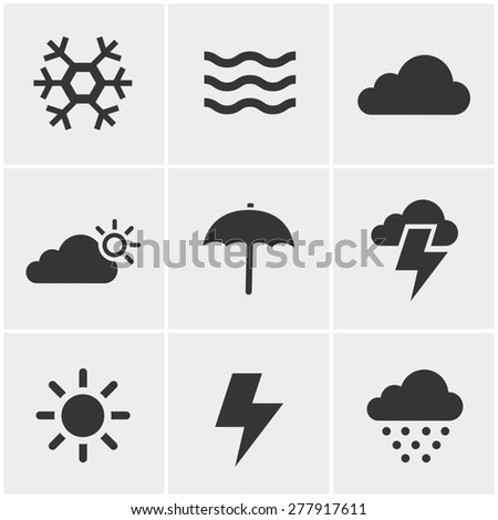 weather  Icons Set, Vector Design - stock vector