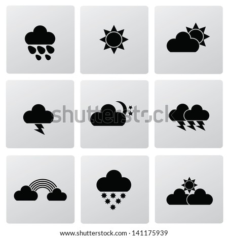 Weather icons,vector - stock vector