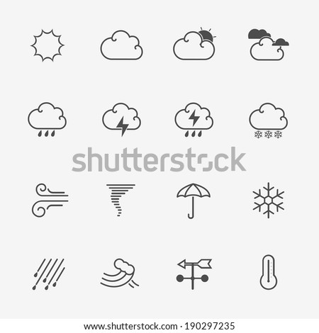 Weather Icons Vector - stock vector