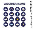weather icons. vector illustration - stock vector