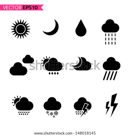 Weather icons vector set 2