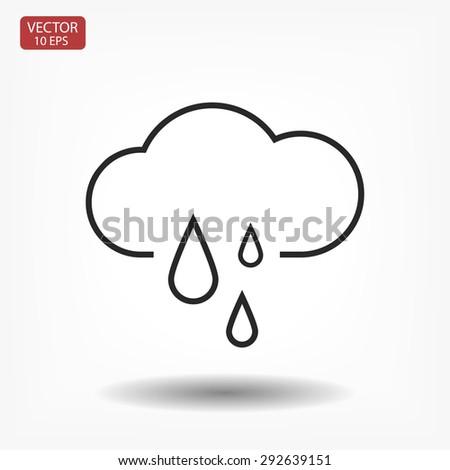 weather . line vector icon - stock vector